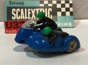 Scalextric B1 Motor Cycle Typhoon Racing #8 Blue