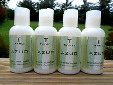 Thymes AZURE Daily Conditioner Lot of 4 Travel Size 2oz Bottles Vacation