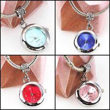 Wholesale 4pcs Silver Quartz Watches European Spacers Charms Beads For Bracelet