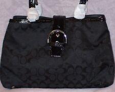 $378 SOHO SIGNATURE CARRYALL PURSE BAG COACH 23163 SILVER/BLACK NWT/NEW