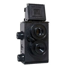 New Recesky 35mm Twin Lens Reflex TLR Holga Lomo Camera DIY Kit Black Color