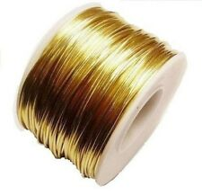 RED BRASS ROUND WIRE 20 GA  110 FT. 5 OZ  SOFT  SOLID WIRE WRAPPING ON SPOOL