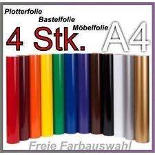 4x A4 Plotterfolie Bastelfolie Möbelfolie Deco Folie Klebefolie Selbsklebend