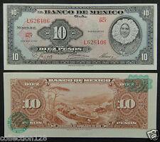 Mexico BANKNOTE 10 Pesos 1967 UNC