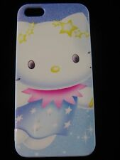 Hello Kitty Hard Cover Case for iPhone 5 New Hello Kitty Stars Blue Pink Yellow