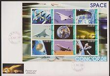 5325+ CONCORDE   BLOC 1er JOUR DENTELE  CONGO 2002