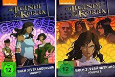 2 DVDs * DIE LEGENDE VON KORRA - STAFFEL 3 (3.1 + 3.2) VERÄNDERUNG # NEU OVP +