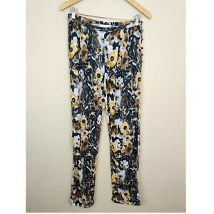 Anthropologie Sam Lavi Floral Pants Pockets Side Buttons S Small