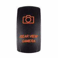 Car Laser Rocker Switch Backlit Lights ORANGE LED Rear View Camera 5 Pins 12V