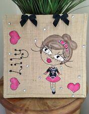 Personalised Jute Bag Irish Dancing 32cm x 32cm