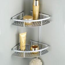 2 Tiers Bathroom Shower Shelf Corner Organiser Caddy Shampoo Storage Holder