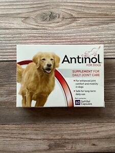 Vetz Petz Antinol for Dogs Supplement Daily Joint Care 60 Softgels Best By 01/22