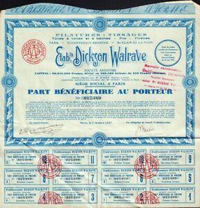 Etab. Dickson Walrave Paris France dd 1927