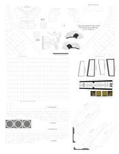 1/144 scale Late Era Shuttle Orbiter Afrsi & White Tile Decal Set