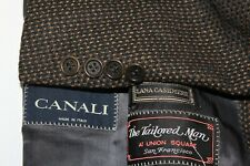 CANALI Men's 62 / 50L Wool & Cashmere Black/Brown Dual Vent Sport Coat