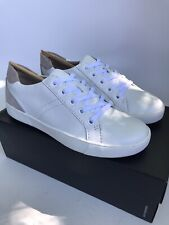 Naturalizer Women's Morrison Leather Sneakers White (Size 8.5W) WIDE