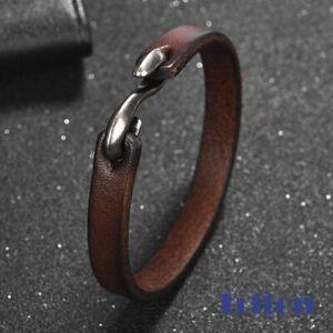 Echtes Leder Armband mit S Haken f. Herren / Männer  L= 21,5cm inkl. Samtbeutel