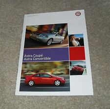 Vauxhall Astra G Coupe & Convertible Brochure 2005 1.6 1.8 2.0 16v 2.0 Turbo