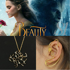 Beauty and The Beast Earrings Ear Cuff Belle Rose Clip Earrings Film Jewelry