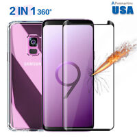 Full Cover Tempered Glass Screen Protector+Case Fr Samsung Galaxy Note 9/S9/Plus