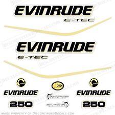 Evinrude 250hp Personalizzato Colore Giallo E-Tec Motore Decals-2004 2005 2006
