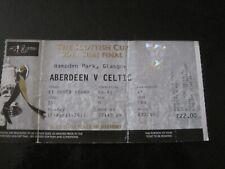 Celtic fc ticket stub - v Aberdeen - sun 17/04/11 - scottish cup semi final