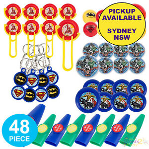 JUSTICE LEAGUE PARTY SUPPLIES 48 BIRTHDAY LOOT BAG PINATA FAVOURS SUPERHERO