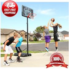 Kids Adjustable Portable Basketball Hoop 44 Inch Impact Outdoor Rim Goal Stand