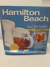 Brand New Hamilton Beach 2-Quart Electric Iced Tea Maker White 40911
