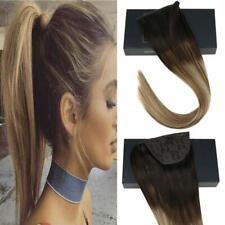 Sunny Magic Tape Ponytail Human Hair Extension 80g Balayage Brown&Blonde #2/6/24