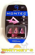 G5 Montec 3 Blade 100 Grain Broadhead - PINK - 119 $10 Mail in rebate