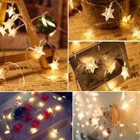 2M 20LED Stars String Fairy Light Battery Operated Xmas Tree Wedding&Party Decor