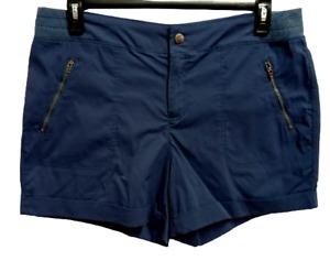 Tangerine blue spandex stretch multi pockets women's shorts XXL