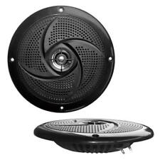 "Pair Pyle PLMRS5B 5.25"" 180W Low-Profile Slim Style Waterproof Marine Speakers"