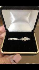 Diamond engagement ring set