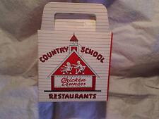 1965 COUNTRY SCHOOL DRIVE-IN RESTAURANTS CHICKEN DINNERS BOX,shakes,hamburgers