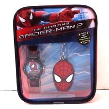 Marvel The Amazing Spider-Man Wrist Watch Key chain & Flashing Lights Backpack