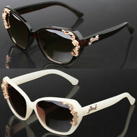 Cat Eye Floral Baroque Women Teen Girls Ladies Fashion Designer Sunglasses UV400
