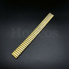 12 - 20 MM Stretch Expansion Stainless Steel Watch Band Strap Bracelet Gold USA