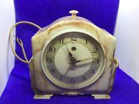 Antique vintage Smiths Marble effect Bakelite Alarm Clock