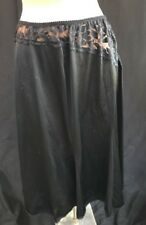 Marks Spencer Women's Ladies Black Full Half Slip With Lace Size 18 - 20 Tall
