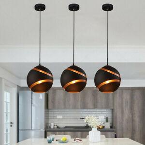 Glass Pendant Light Modern Room Black Ceiling Lamp Kitchen Lights Bar Lighting