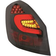 Rückleuchten LED Set Skoda Fabia Bj. 07->> klarglas/rauch-schwarz Light Bar OMR