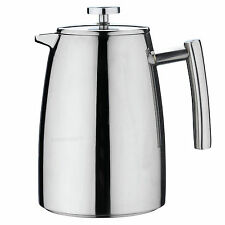 Grunwerg Belmont Double Wall Stainless Steel Cafetiere 6 Cup
