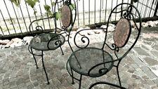 Sedie da giardino in ferro