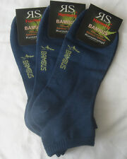 3 Paar Men's Harmony Trainers Bamboo Short Sock Socks Jeans Blue 39 Bis 46 43-46