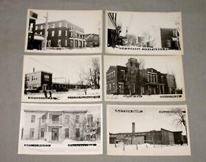Lot of 6 Original 1940's Terrebonne Quebec Photo Postcards