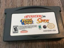Mouse Trap/Operation/Simon (Nintendo Game Boy Advance, 2005) Used Free US S/H