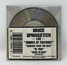 """Bruce Springsteen Live 3"""" Cd Born to Run Acoustic, Chimes of Freedom, Tougher"""