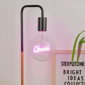Dream LED Filament Bulb  - LED, text bulb, retro, pink, lightbulb, lighting